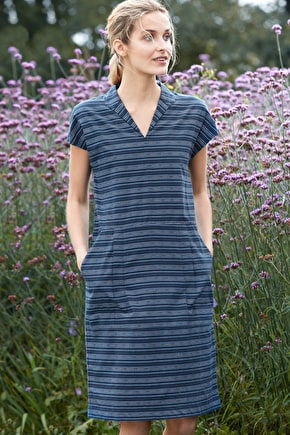 Alys Dress, Pure Cotton Striped Dress  - Seasalt