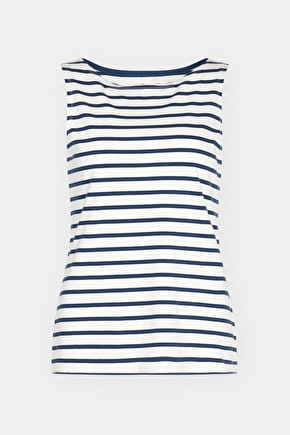 Organic Cotton Boat Neck Breton Striped Sailor Vest - Seasalt