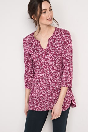 Enclos Tunic, Loose Fitting Organic Cotton Tunic Top - Seasalt