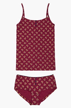 Floral Knickers & Cami Set