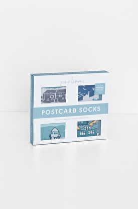 Women's Postcard Socks Box of 4