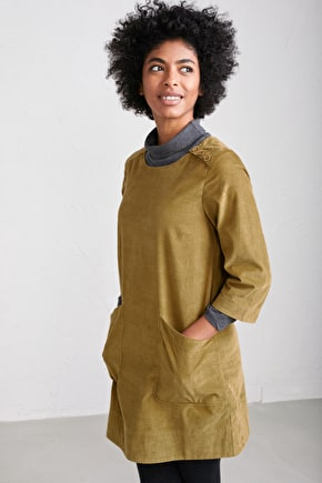 Wild Bluster Tunic - Relaxed A-line Cord Tunic Top - Seasalt