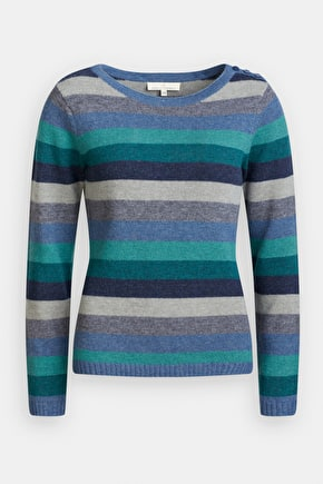 Trumpet Jumper. Striped Super Soft Lambswool - Seasalt