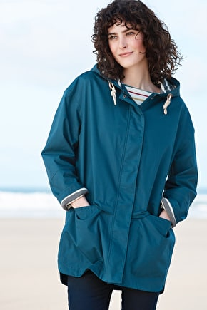 Waterproof, Square Sail Ripstop Cotton Tin Cloth Coat - Seasalt