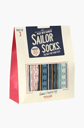 Womens Sailor Socks Gift Bag