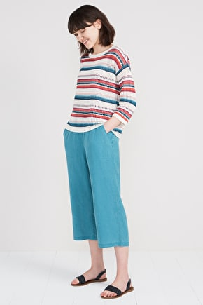 Linen cropped trousers Lunar Light Crops II | Seasalt