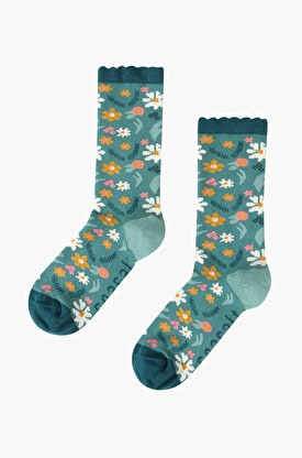 Womens Floral Feet Socks