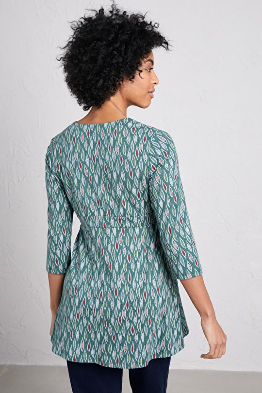 Ink Roller Tunic, soft organic cotton with stretch  - Seasalt Cornwall