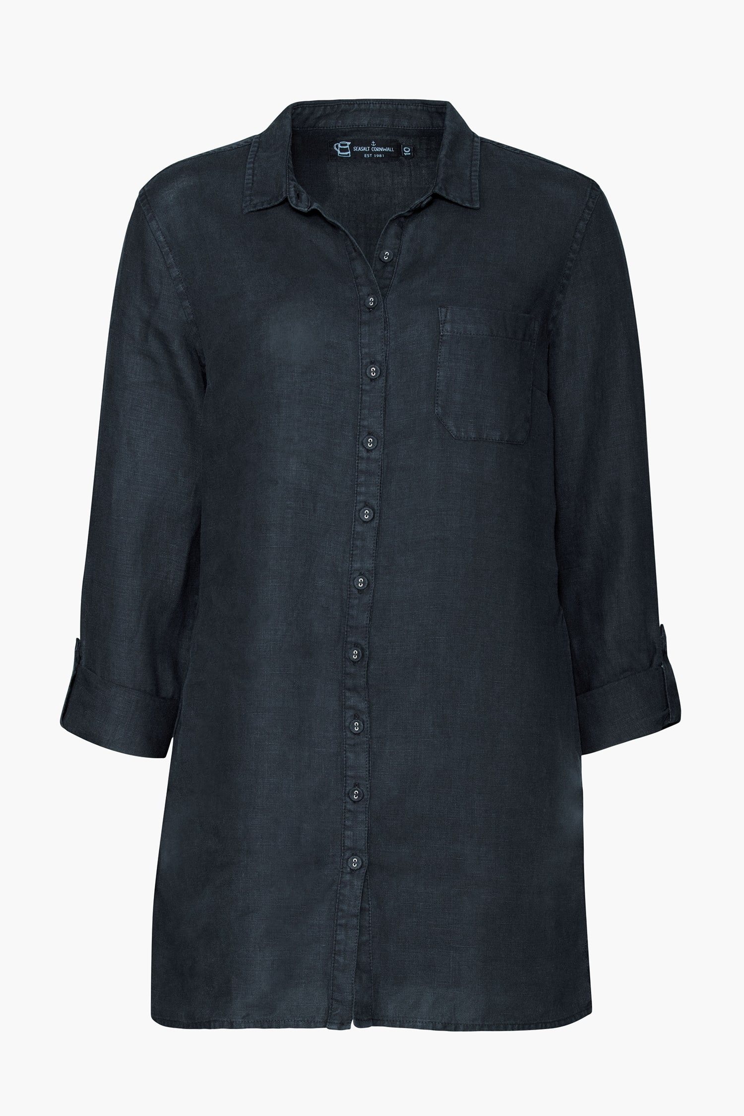 Rockcliff Long Workwear Shirt 100 Linen Seasalt