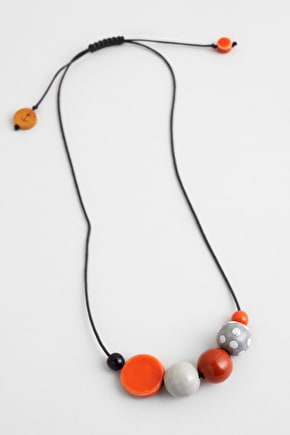 Frolic Necklace, Glazed Ceramic Beads Necklace - Seasalt Cornwall