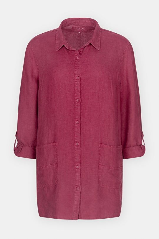 Arbour Shirt, Long Linen Shirt With Pockets - Seasalt Cornwall
