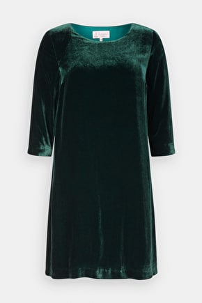 Trevissick Dress, Silk Velvet A-line Dress - Seasalt Cornwall
