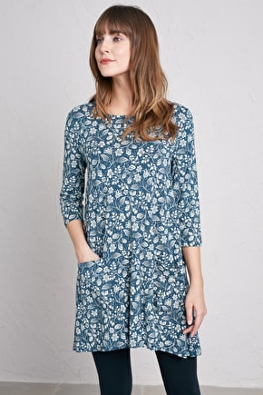 Killiow Tunic, Super Soft Bamboo Jersey Tunic - Seasalt