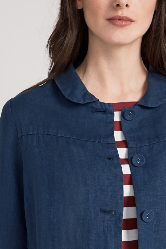 Treverbyn Jacket, Linen A-Line Shape - Seasalt