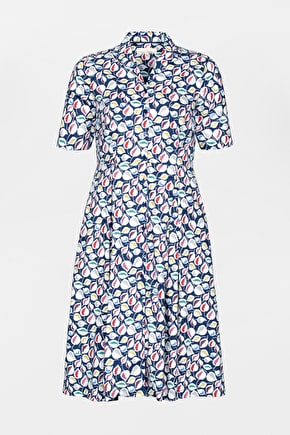 Bossava Dress, Below the Knee Fit and Flare Cotton Dress- Seasalt