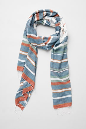 Striped Cotton Ladies Boat Race Scarf - Seasalt