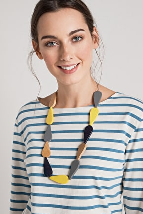 Paint Drips, Haldu Wood Necklace - Seasalt