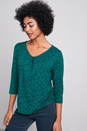 Kennegy Cove Top, Semi Fitted Bamboo Jersey Top - Seasalt Cornwall