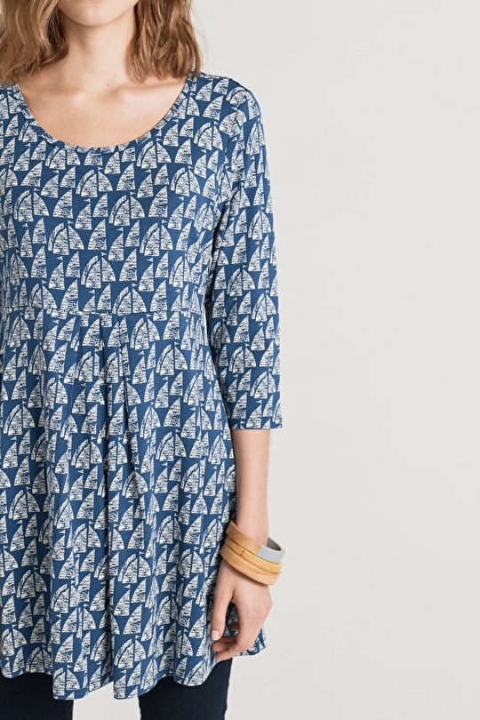 Silky, Soft Bamboo Tunic Top. In Unique Seasalt Prints