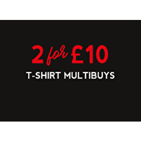 T-Shirt Multibuys: 2 For £10