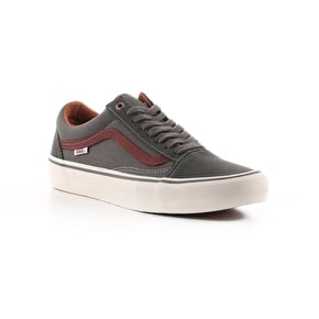 Vans Old Skool Pro Skate Shoes - Gunmetal/Burnt Henna