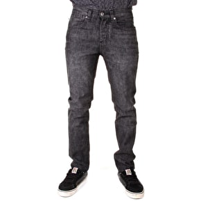 Kr3w K Standard Fit Jeans - Dry Worn Black
