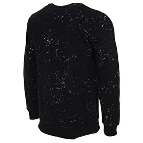 Hype Speckle AOP Crewneck - Black/White