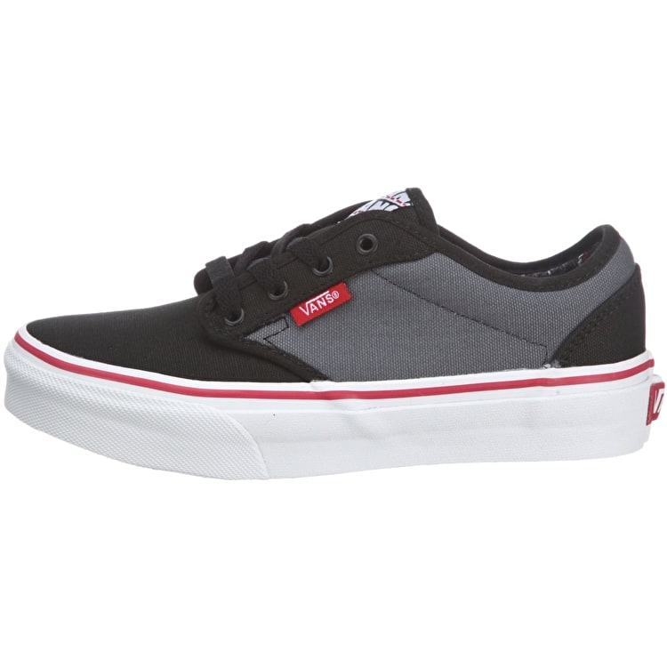 Vans Atwood Youth Skate Shoes - Black/Red/Grey - UK Junior 13 (B-Stock)