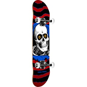 Powell Peralta One Off Ripper Complete Skateboard - Red/Blue 7.5
