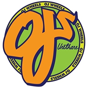 OJ Wheels Standard Skateboard Sticker - 3