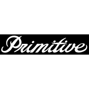 Primitive Classic P Circle Sticker - Black