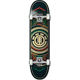 Element Hatched Green Red Complete Skateboard - 8