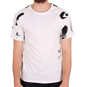 Hype Brush Stroke T-Shirt - White/Black