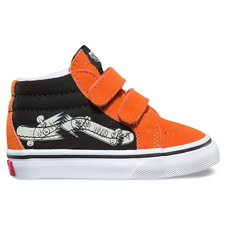 Vans Sk8-Mid Reissue V Toddler Skate Shoes - Flame/Black