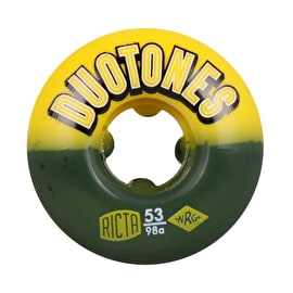 Ricta Duo Tones Electros 98a Skateboard Wheels - Black/Yellow 53mm