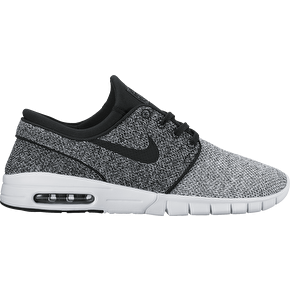 Nike SB Stefan Janoski Max Skate Shoes - White/Black/Dark Grey