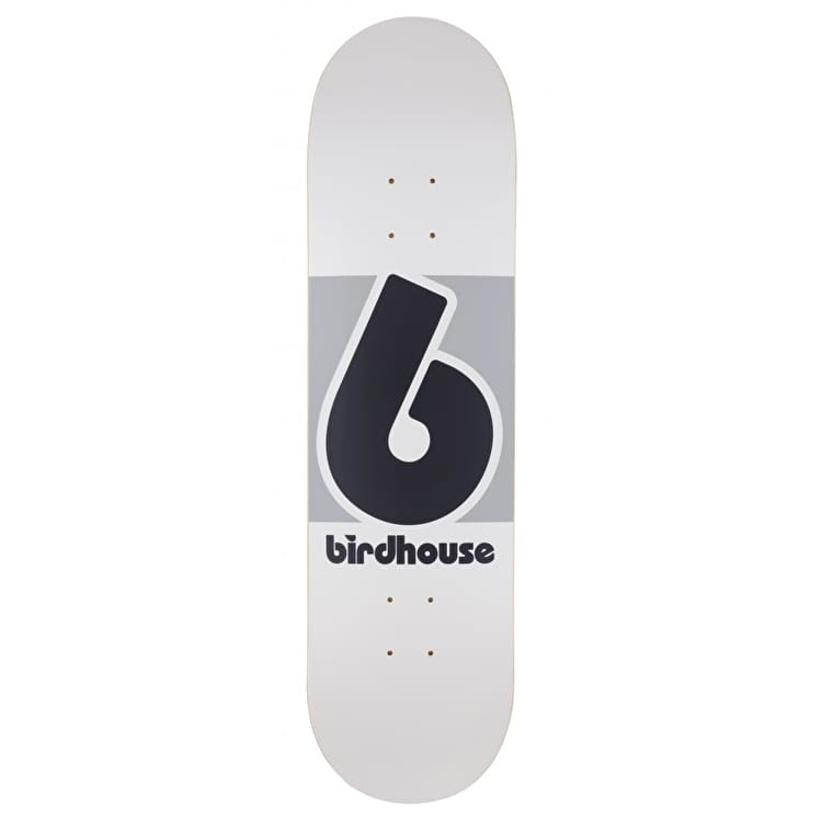 Birdhouse Block Logo Skateboard Deck - White/Grey 8.25""