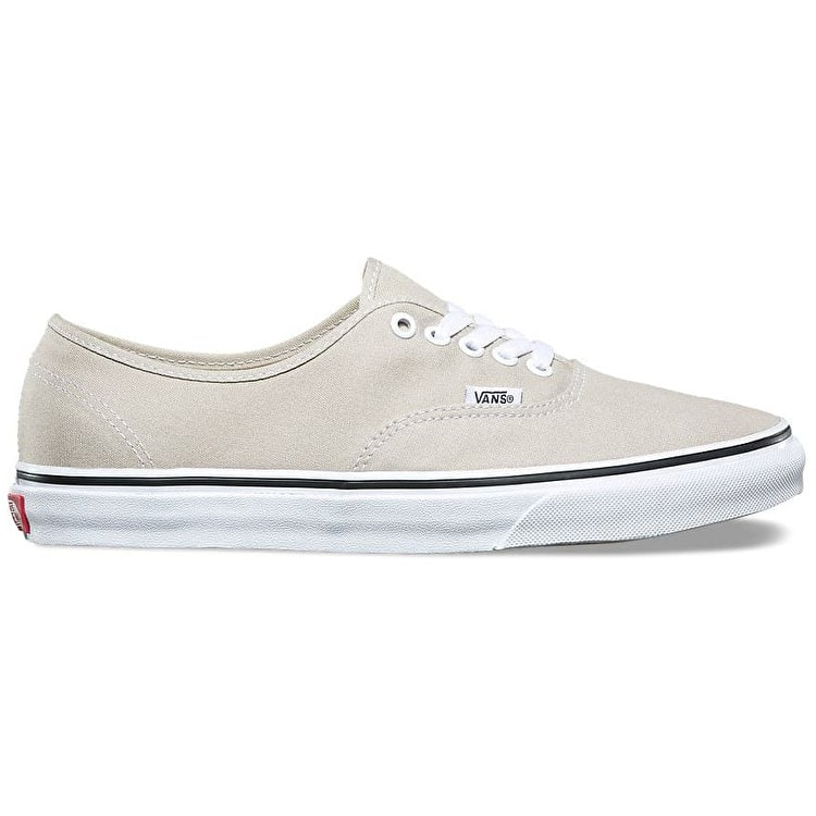 Vans Authentic Skate Shoes - Silver Lining /True White