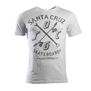 Santa Cruz Double Cross T-Shirt - White