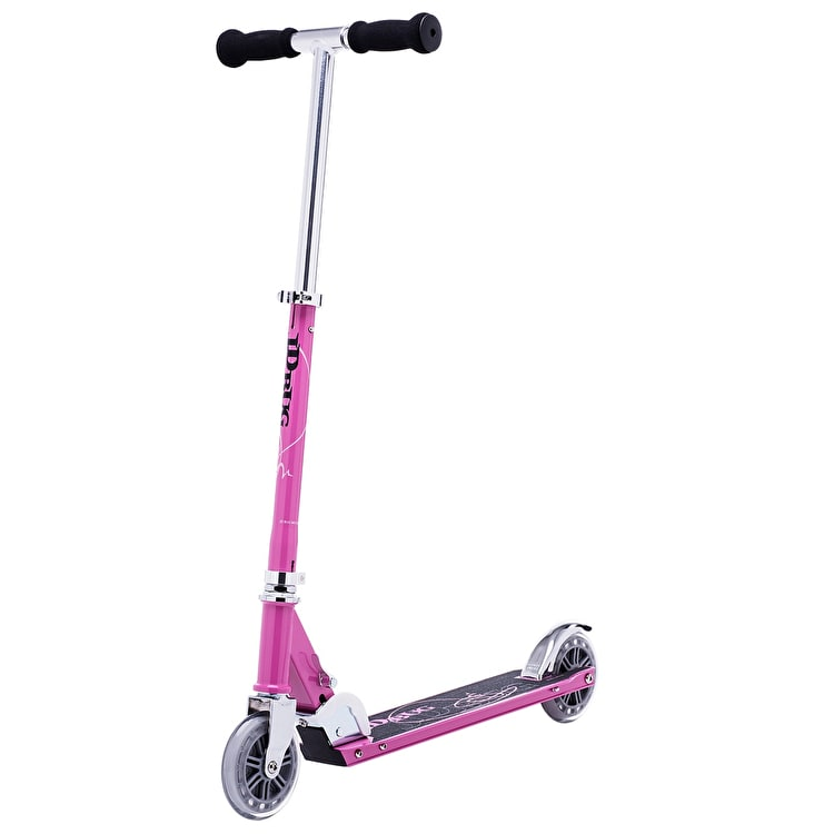 JD Bug Classic Street 120 Folding Scooter - Pastel Pink