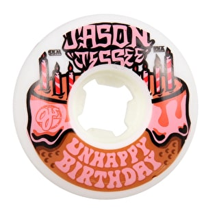 OJ EZ Edge Jessee Unhappy Birthday Skateboard Wheels - White 55mm 101a