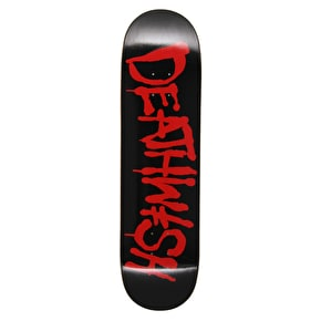 Deathwish Street Spray Skateboard Deck - Black/Red 8.25