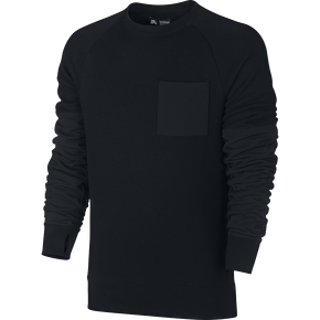Nike SB Everett Overlay Pocket French Terry Crew - Black