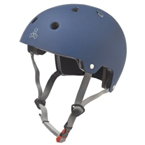 B-Stock Triple 8 Brainsaver Dual Certified Helmet Blue Rubber - Small/Medium 55-58cm (Box Damage)