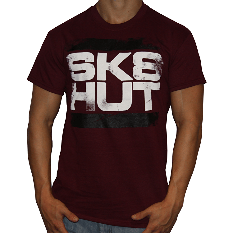 Skatehut Run Sk8hut Kids T-Shirt - Maroon