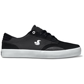 DVS Daewon 14 Shoes - Black/White Suede Canvas