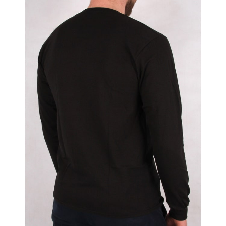 Grizzly Roots Long Sleeve T shirt - Black