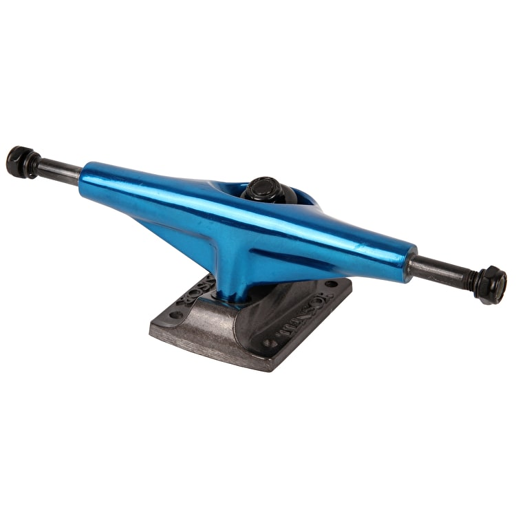 Tensor Aluminum Skateboard Trucks - Mirror Royal/Black - Lo