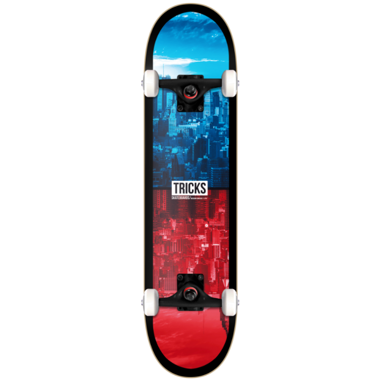 Tricks 16B Urban Mini Complete Skateboard - 7.375""