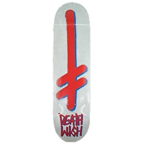 Deathwish Gang Logo Skateboard Deck - Concrete/Red 8.38